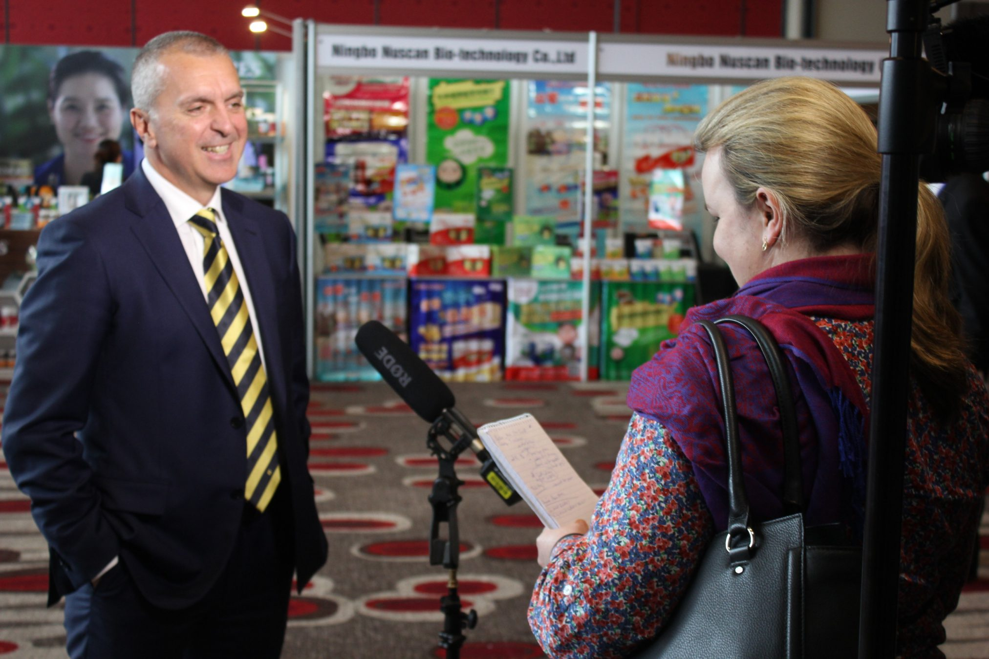 George Tambassis interviewed by ABC TV News at the Expo