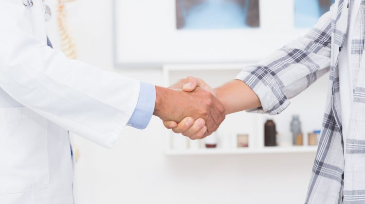 doctor shaking hands