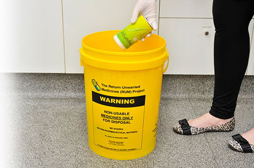 RUM disposal medicines