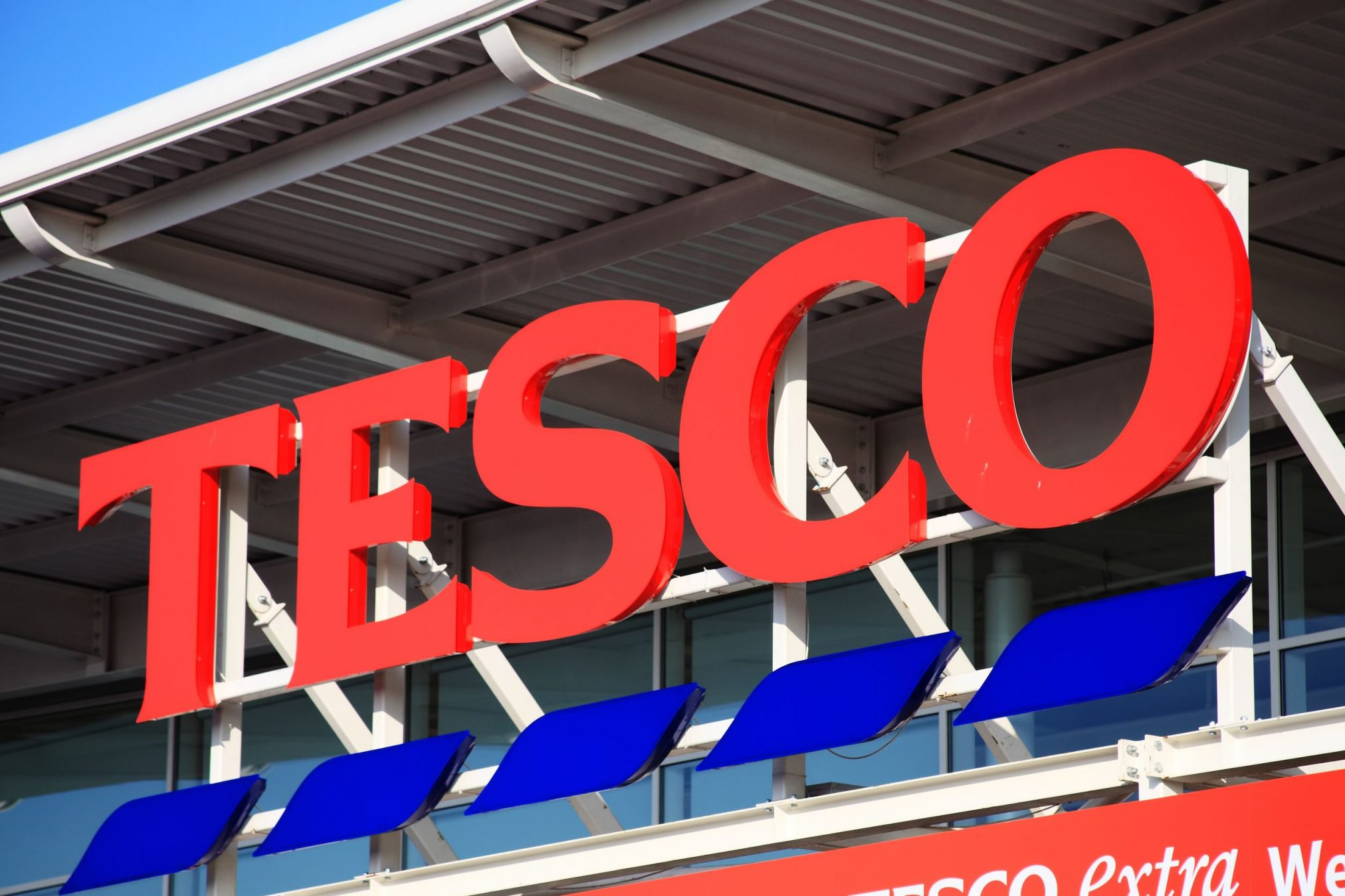 Tesco logo outside Park Wembley store