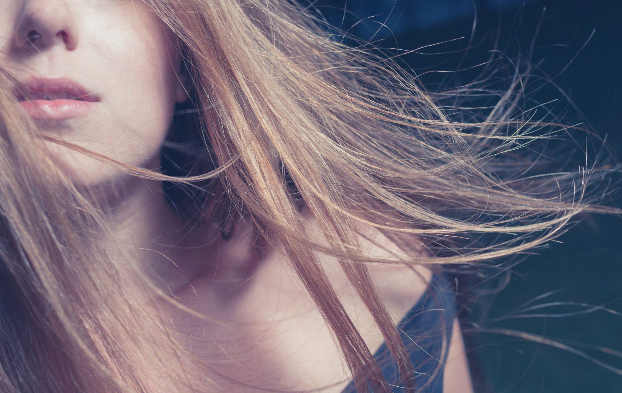 close up of half a woman's face