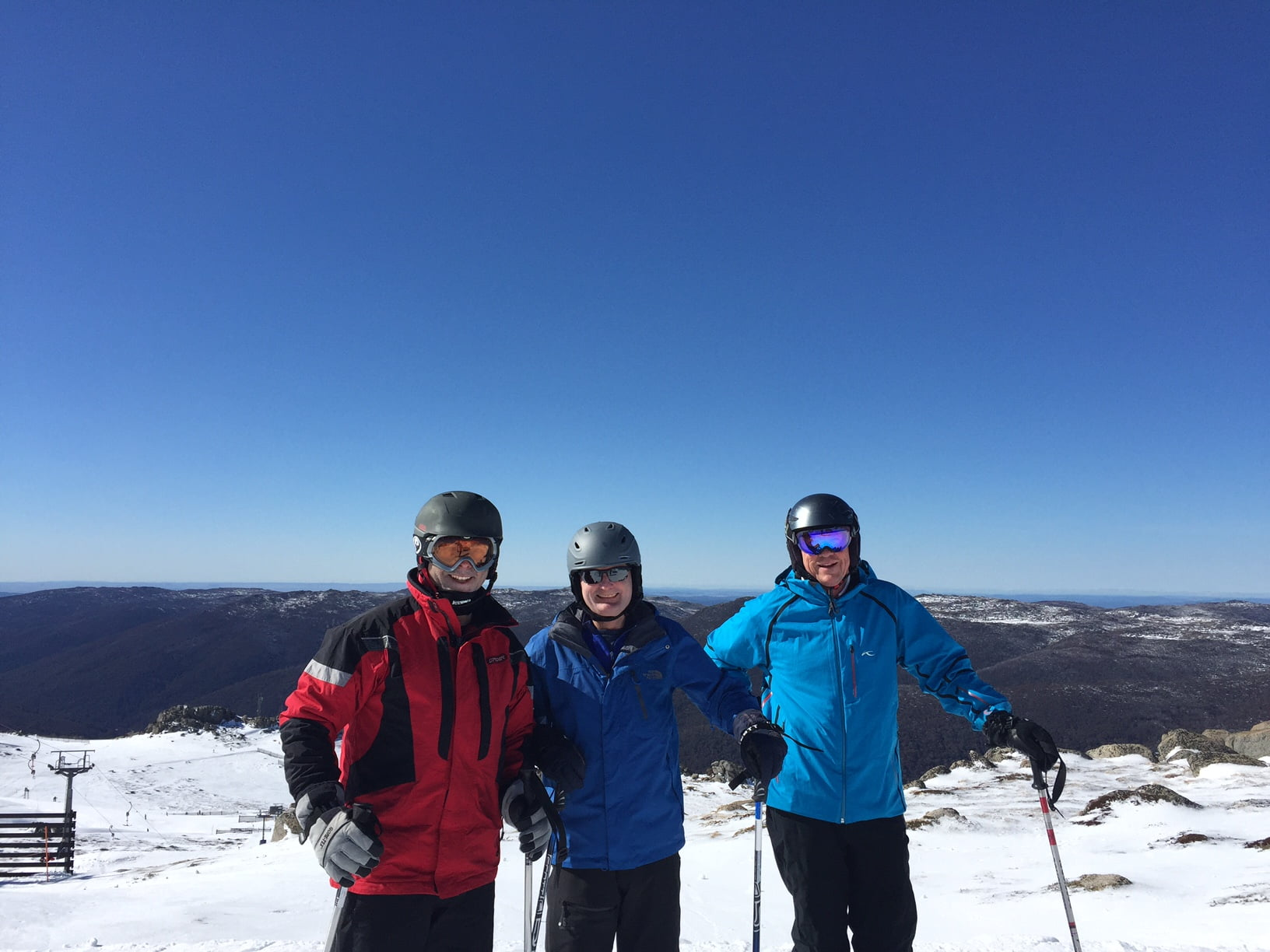 aul Rees Andrew Rewell Peter Clinch Thredbo 2016
