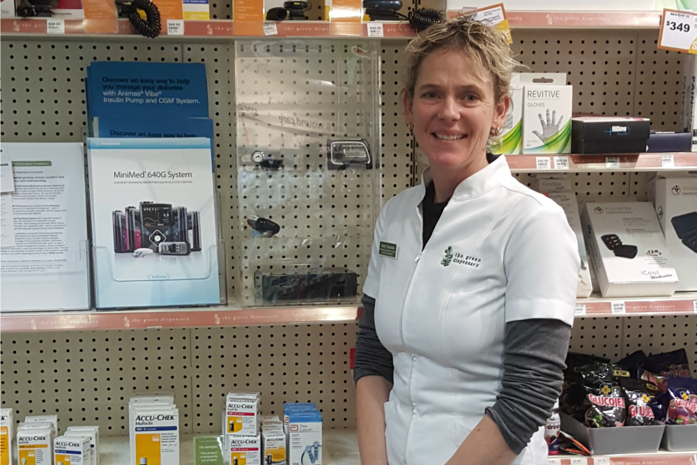 Kirrily Chambers in pharmacy
