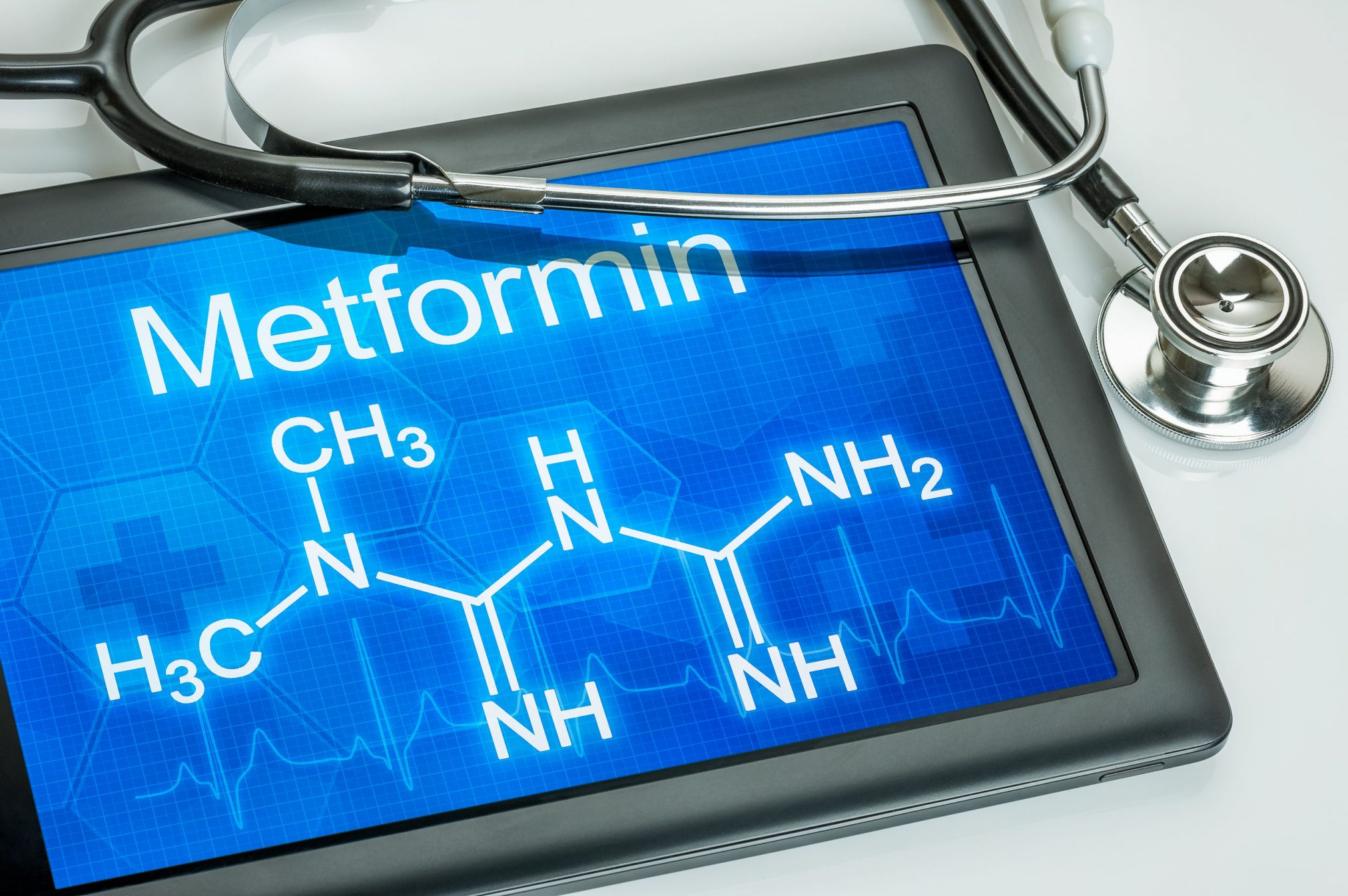 27699468 - tablet with the chemical formula of metformin