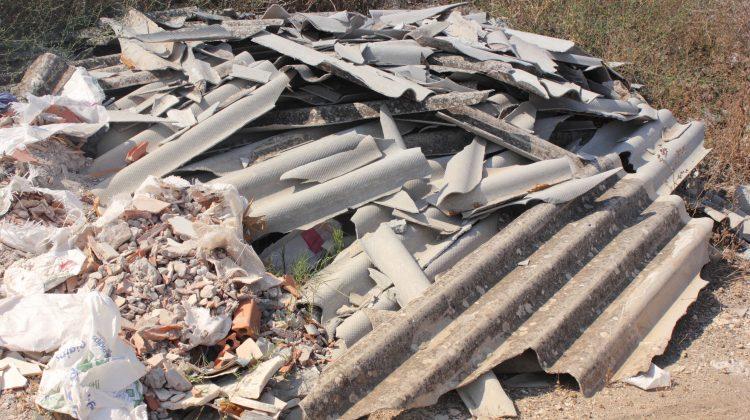 asbestos waste dumped
