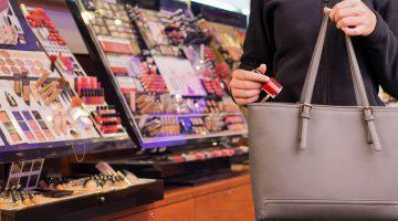 woman steals nail polish