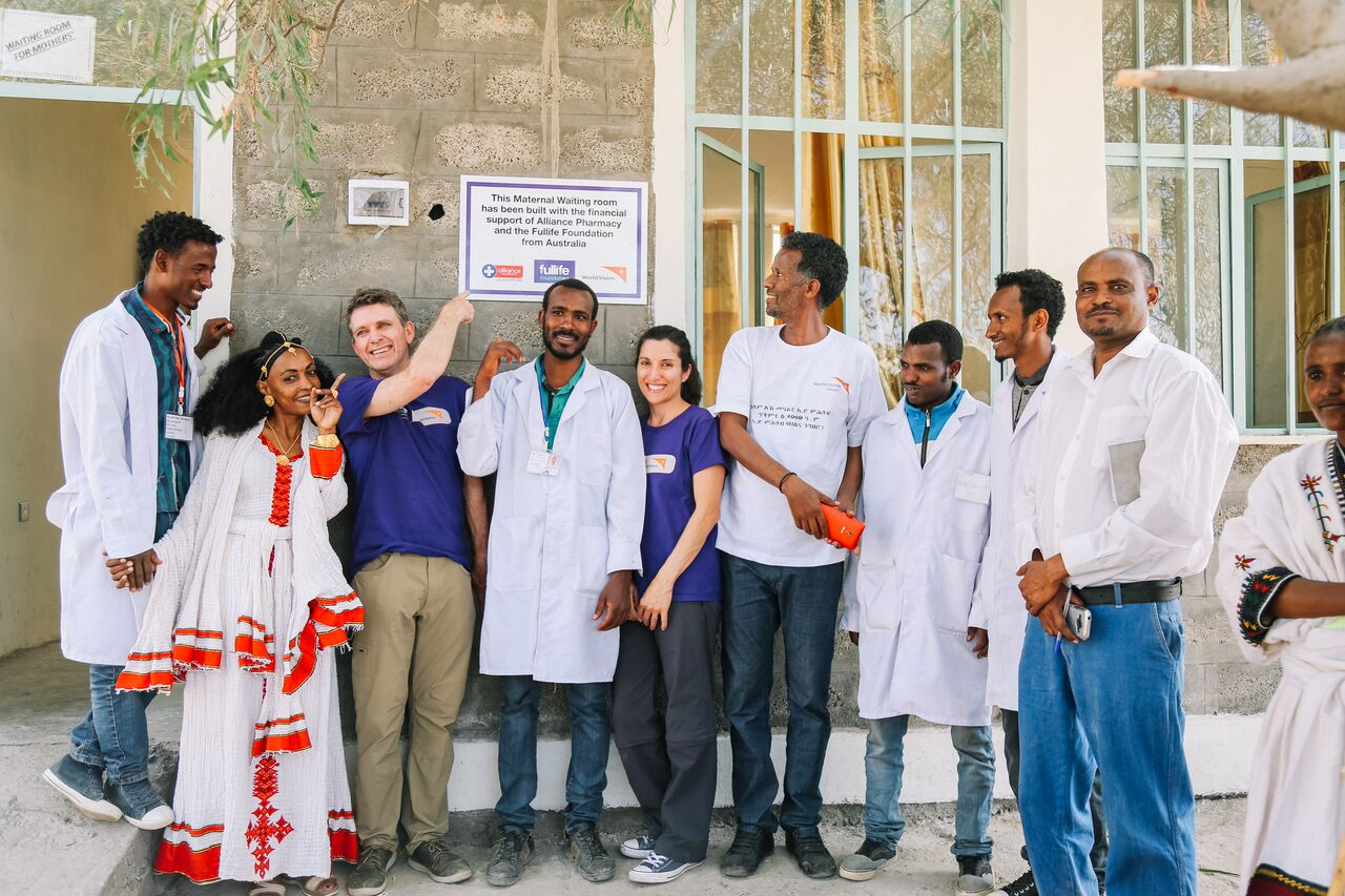 fullife team with medical team in Ethiopia