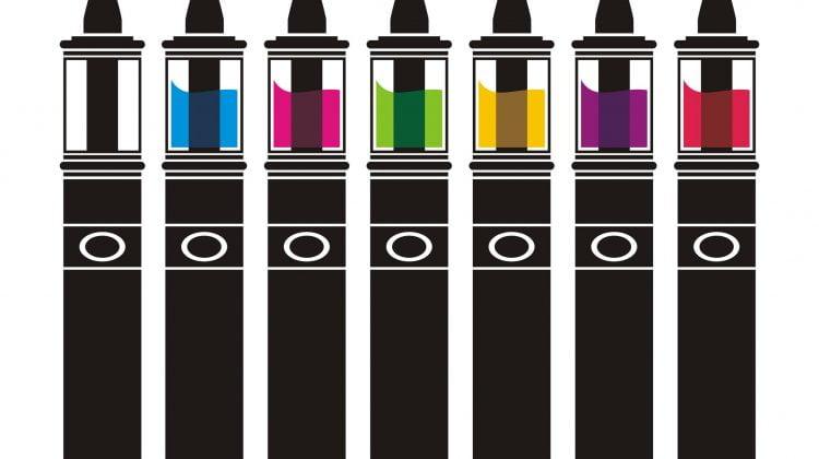 36149436 - vaporizer with colorful lliquid