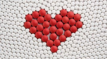 heart made out of pills