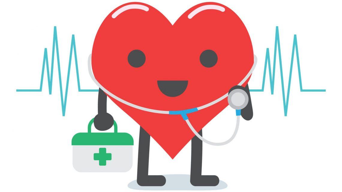 cartoon heart dressed as doctor