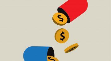 43281150 - medicines with money inside