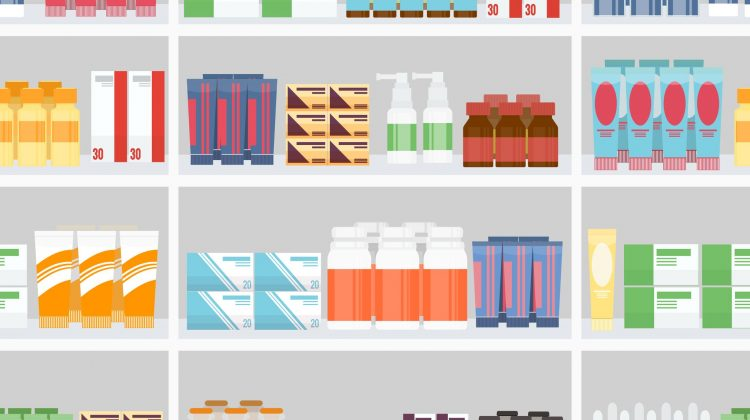 medicines pills shelves pharmacy