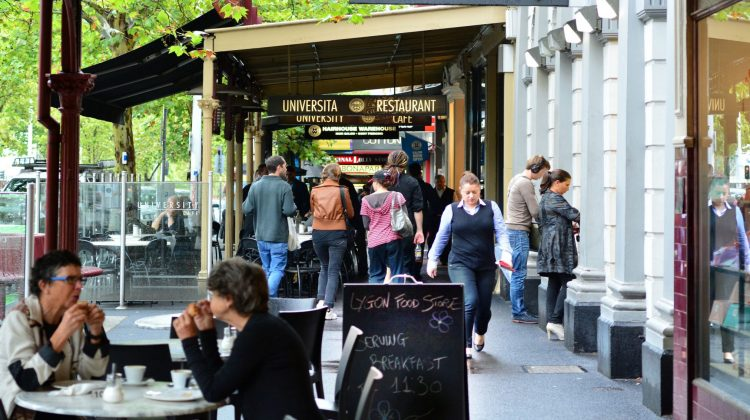 Diners on Lygon Street