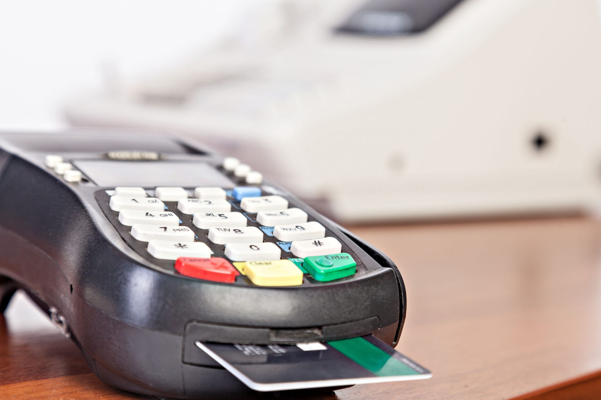 eftpos machine with card stuck in it