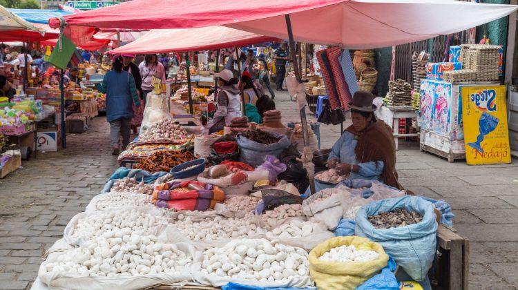 Food market in Bolivia