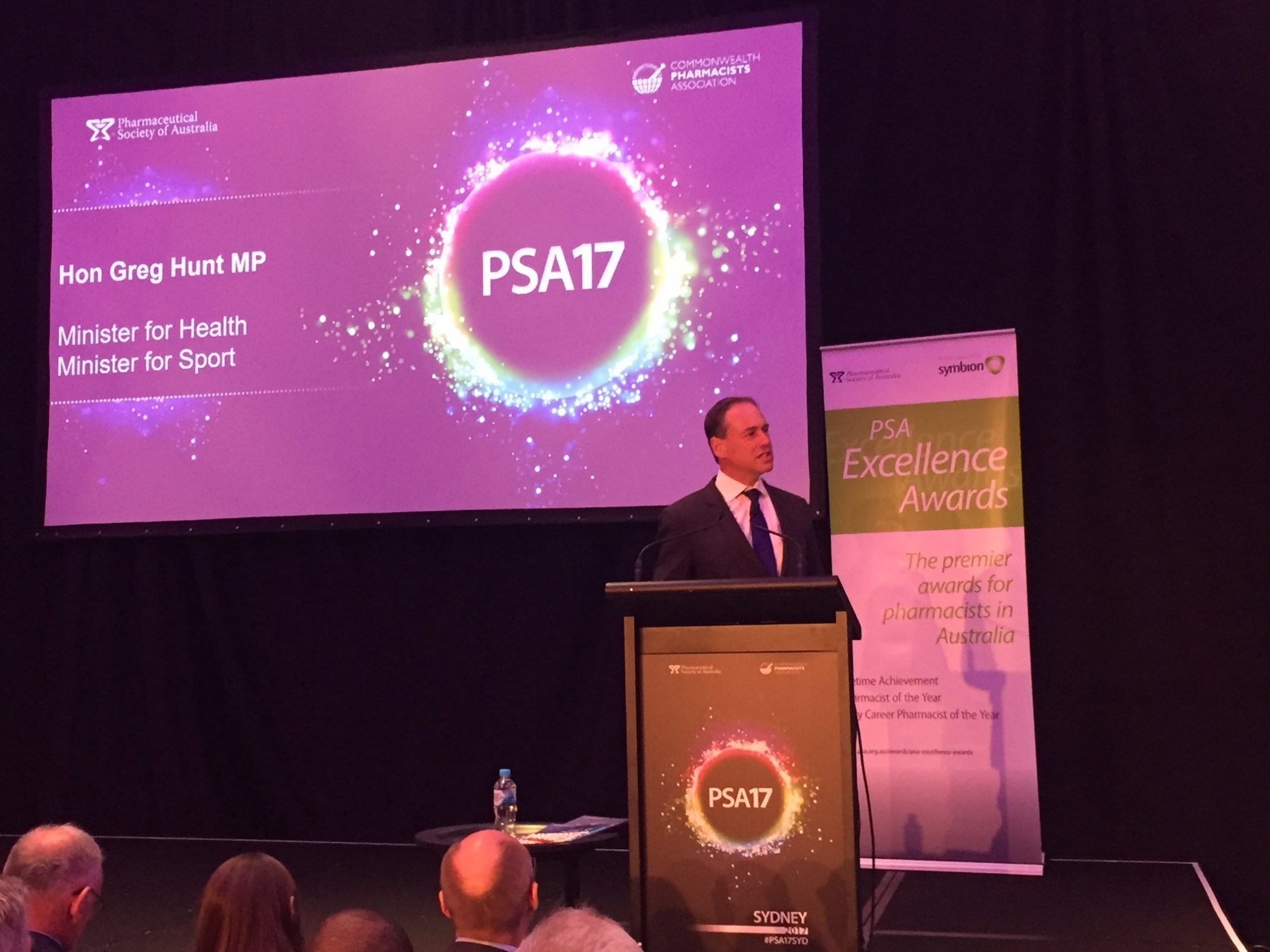 Greg Hunt speaks at PSA17. Image: PSA