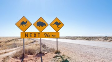 remote rural regional Australian animals sign