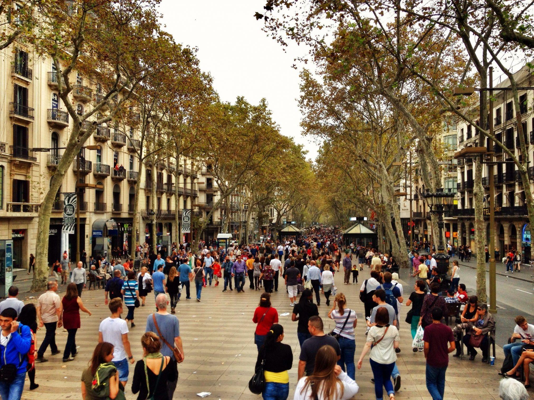 Las Ramblas street scene