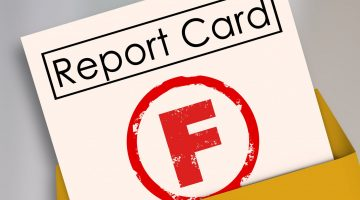 F on report card
