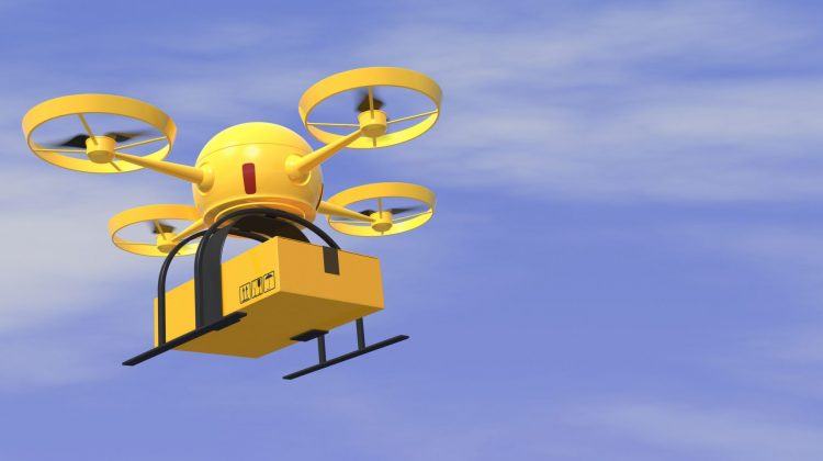 yellow drone
