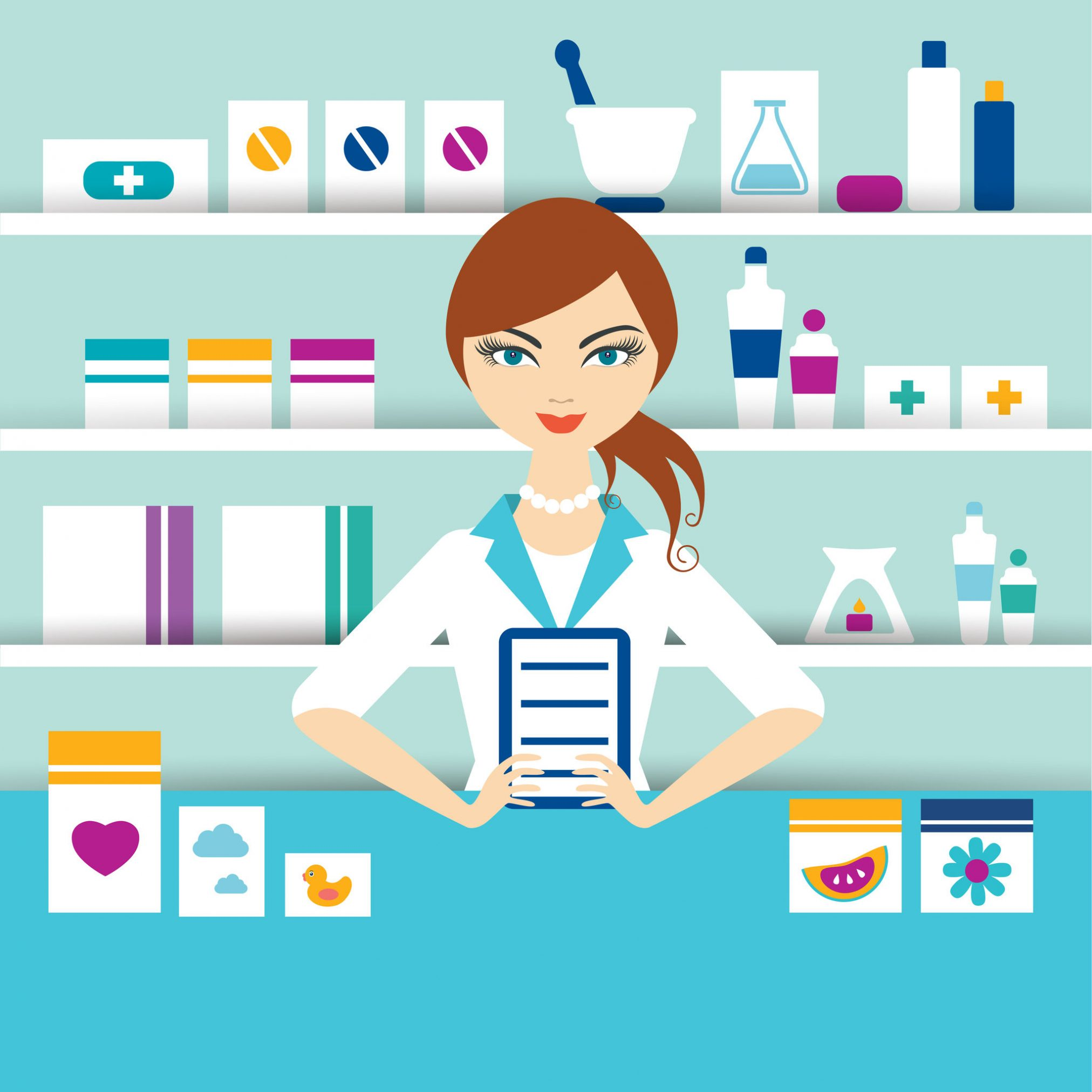 pharmacist illustration