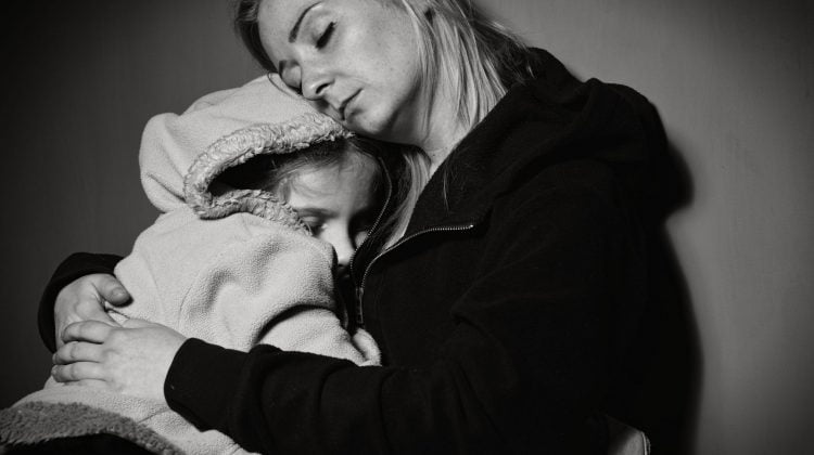 homeless poor mother daughter family low socioeconomic domestic violence