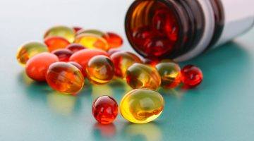 red and yellow capsules