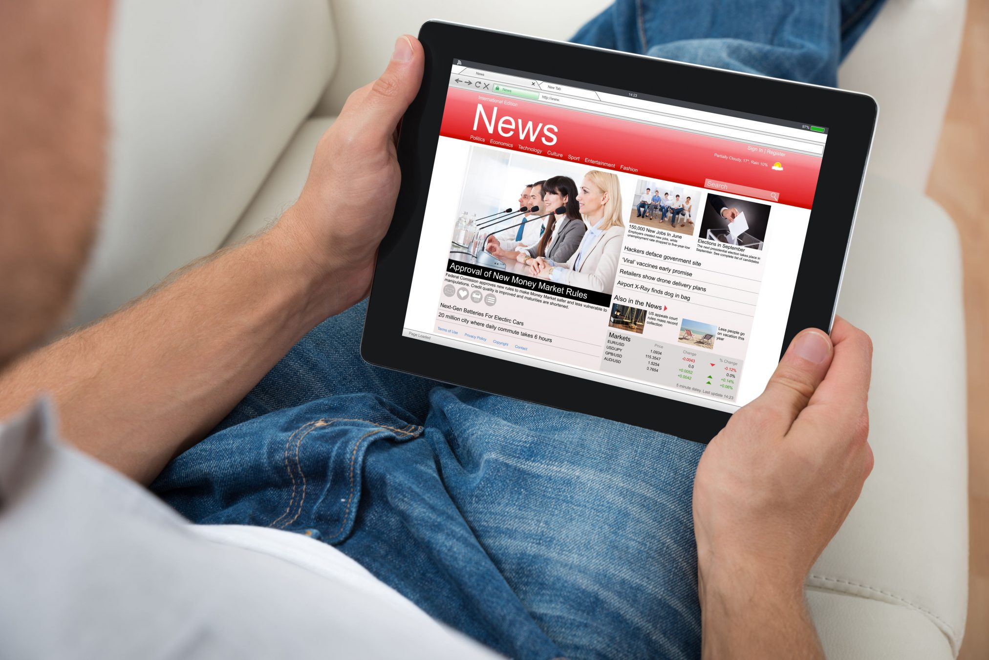 man ipad laptop technology news