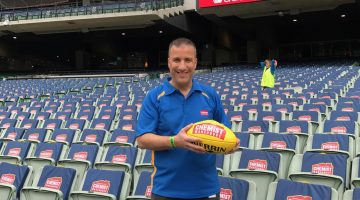 Chemist Warehouse COO Mario Tascone at the MCG for the 2017 AFL Grand Final.