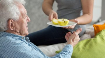 elderly older man food nutrition