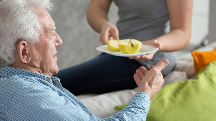 elderly older man food nutrition