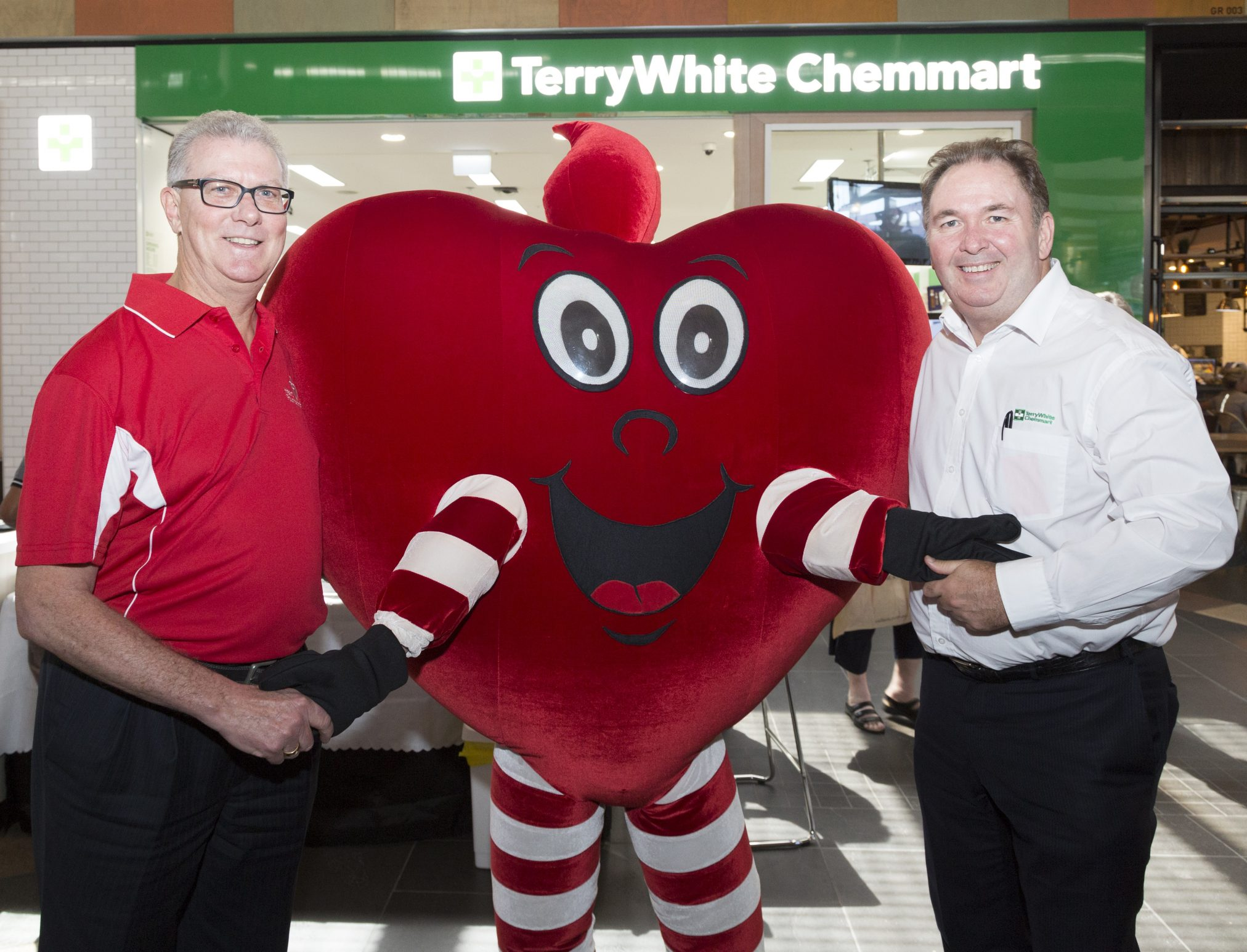 National CEO of the Heart Foundation, Adjunct Professor John Kelly AM, and TerryWhite Chemmart CEO, Anthony White