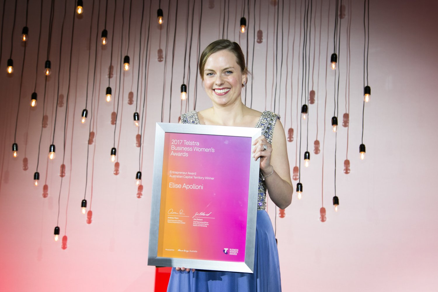 Elise Apolloni scoops the Telstra ACT Awards.