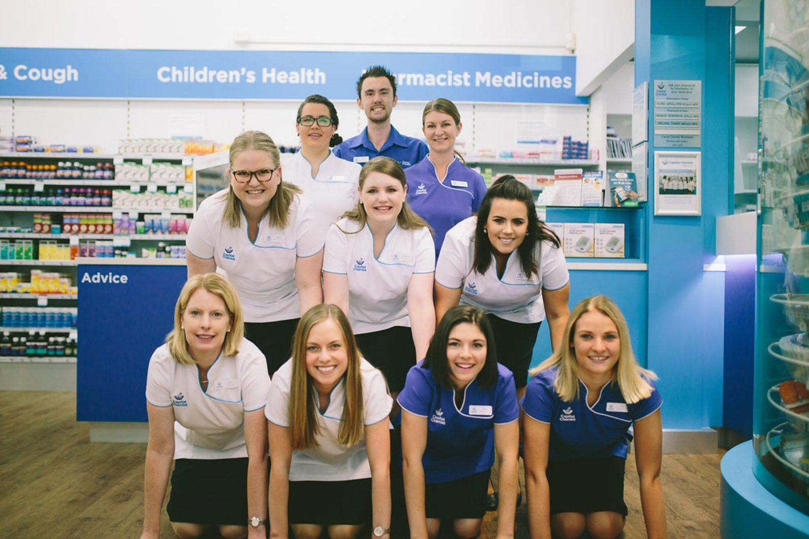 The Capital Chemist Wanniassa team.