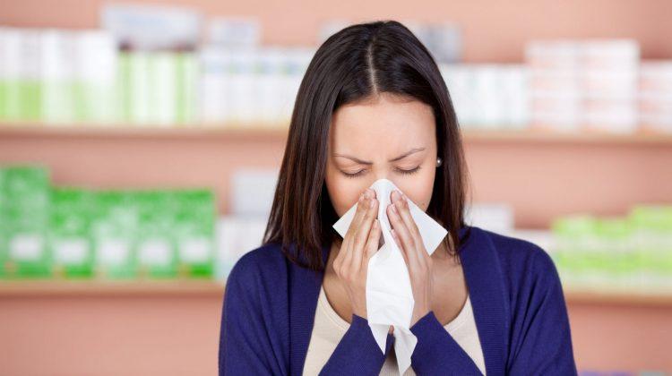 pharmacist sneezes