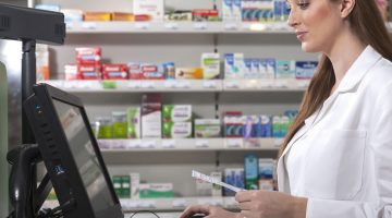 pharmacist computer laptop technology digital my health record