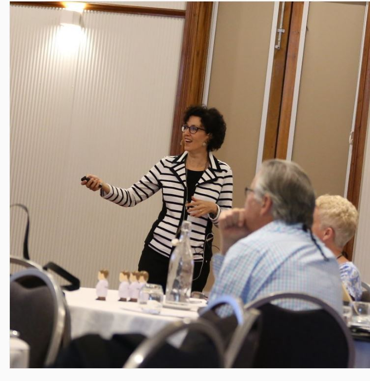 Dr Geraldine Moses presenting at a Pharmeducation conference in Broome, WA. Source: Supplied.