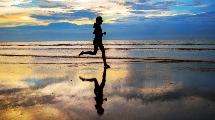 jogger at beach