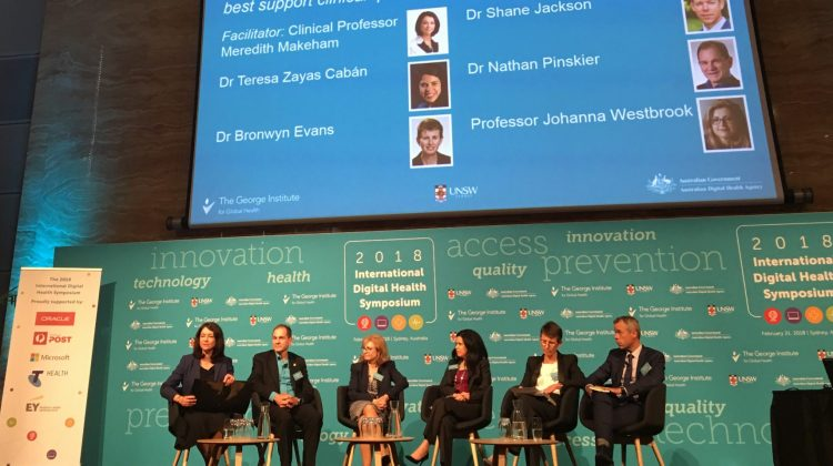 Digital Health panel: Meredith Makeham; Dr Nathan Pinskier; Professor Johanna Westbrook; Dr Teresa Zayas Caban; Dr Bronwyn Evans; Dr Shane Jackson