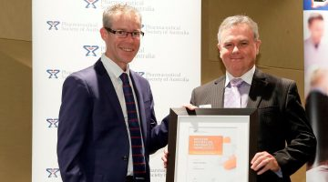 PSA National President Shane Jackson, and WA Pharmacist of the Year Dean Schulze