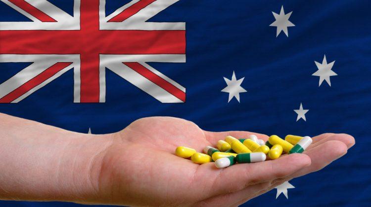 Australian flag pills