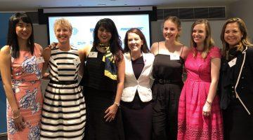 Women's breakfast panel (L-R): Felicity Crimson, Karen Carter, Caroline Diamantis, Felicity Wilson, Rebecca Loder, Elise Apolloni, Catherine Bronger