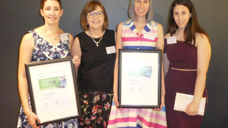 Dr Janet Sluggett; Robyn Johns SA/NT President; Dr Jacinta Johnson and Dorsa Maher