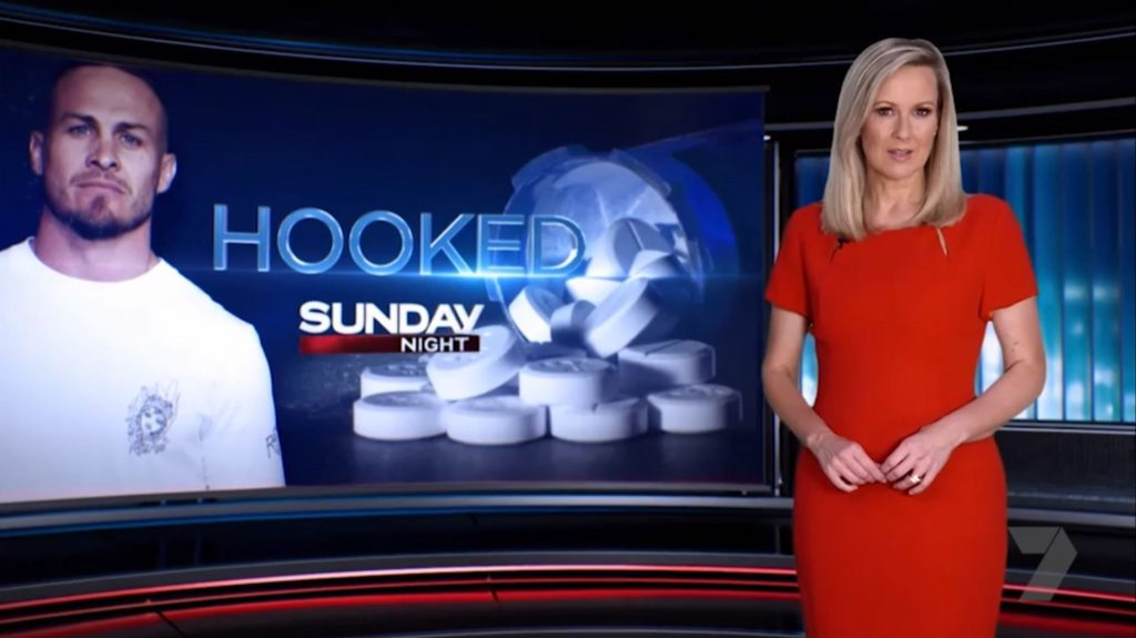 """In its latest episode, Sunday Night looked at the opioid addiction crisis in Australia. """"Opioid addiction doesn't discriminate, hundreds of Australians die every year, and thousands more are hopelessly hooked on strong pain killers."""""""