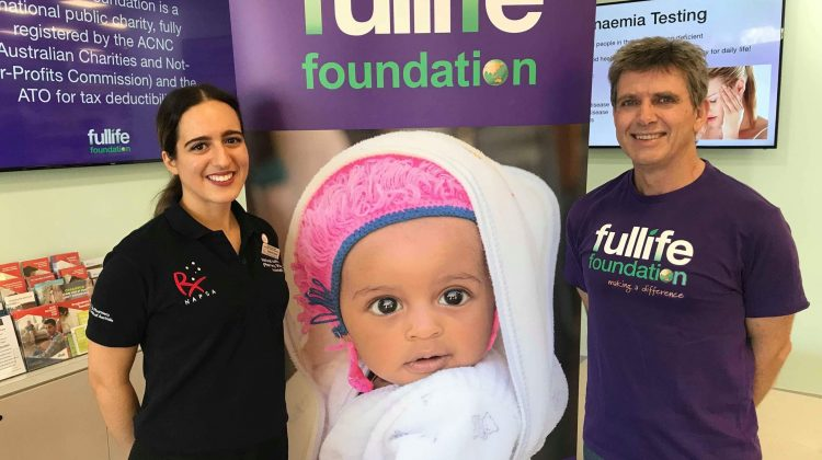 NAPSA Pharmacy Awareness Chair Stephanie Samios, with founder and director of Fullife Foundation Ian Shanks, who is a Victorian pharmacist