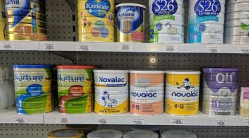 Baby formula on shelves. Image: AJP/Jarrod McMaugh