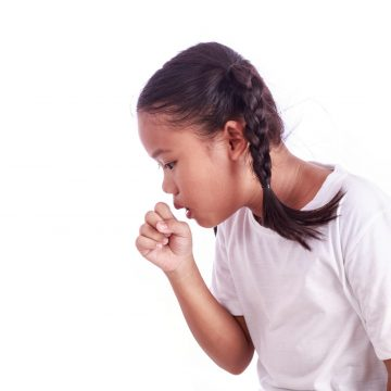 girl coughing