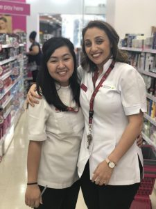Nancy El-Miski (pictured right) is a finalist for Priceline Pharmacist of the Year.