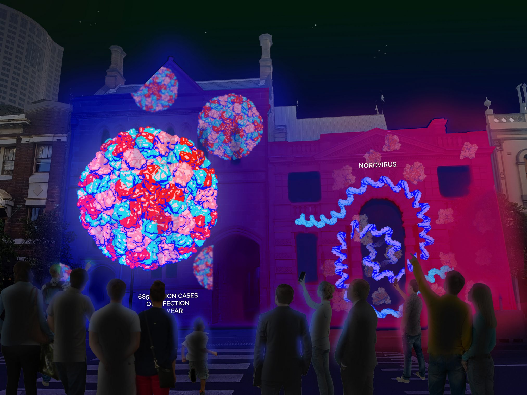 An artist's impression of the CSIRO light installation.