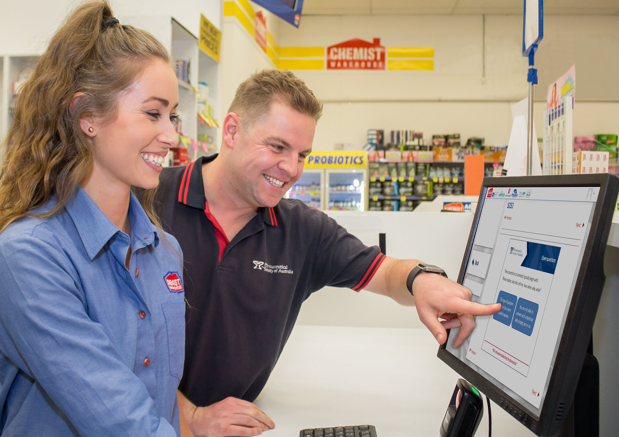 Chemist Warehouse employee Laura and PSA trainer Ryan discuss the new online training platform.